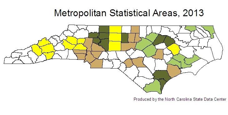 2013 Metropolitan Statistical Areas map