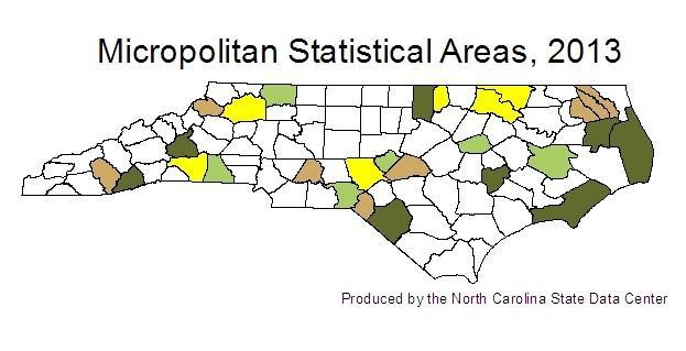 2013 Micropolitan Statistical Areas map