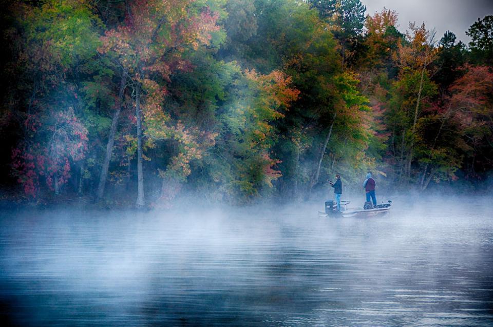 Fishing on Lake Tillery, NC