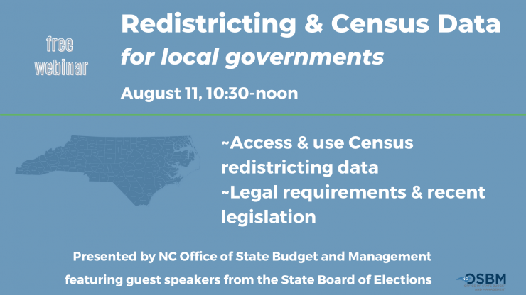 OSBM hosts webinar for local governments on redistricting