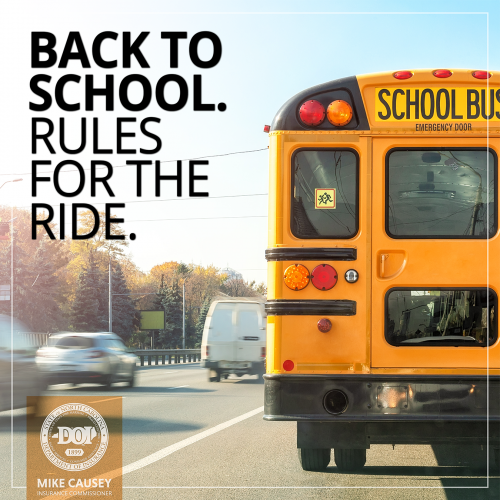 Back to school rules for the ride graphic