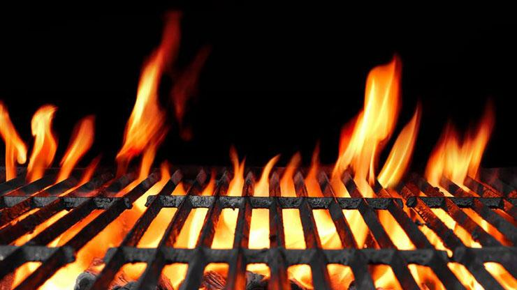 Grill and fire