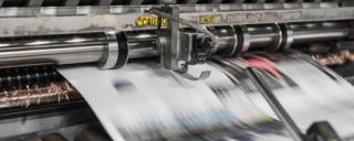 Newspapers being pinted