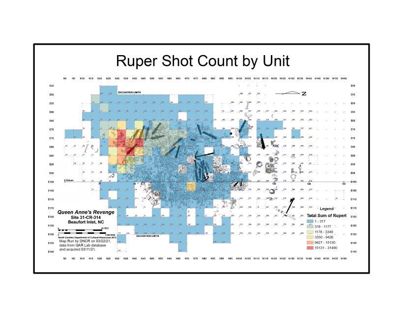 Map of Rupert shot