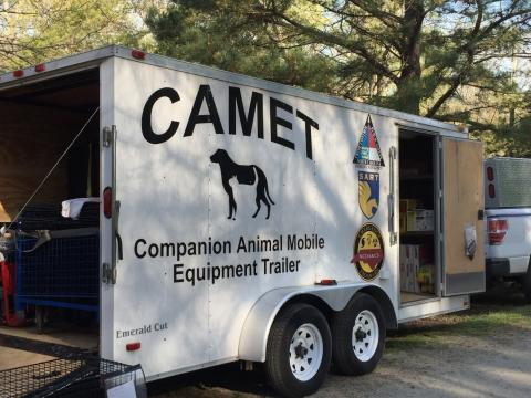 A Companion Animal Mobile Equipment Trailer also known as a CAMET