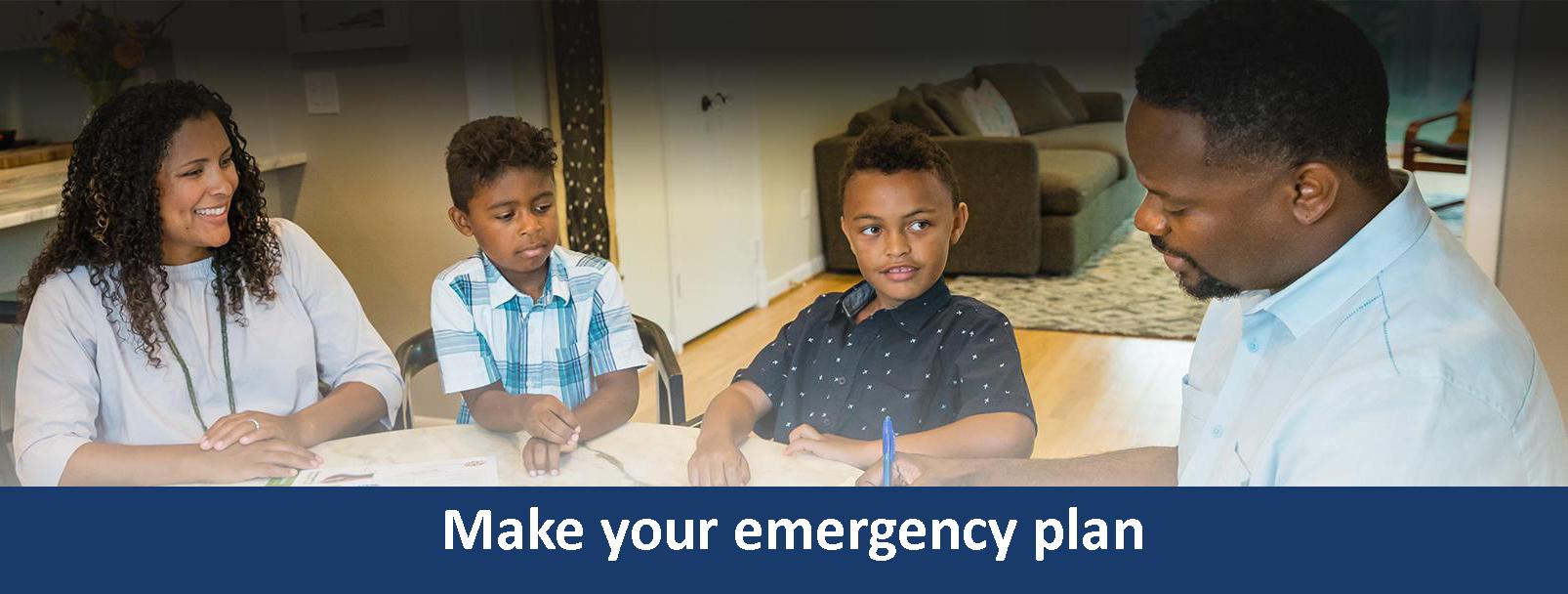 Make your emergency plan