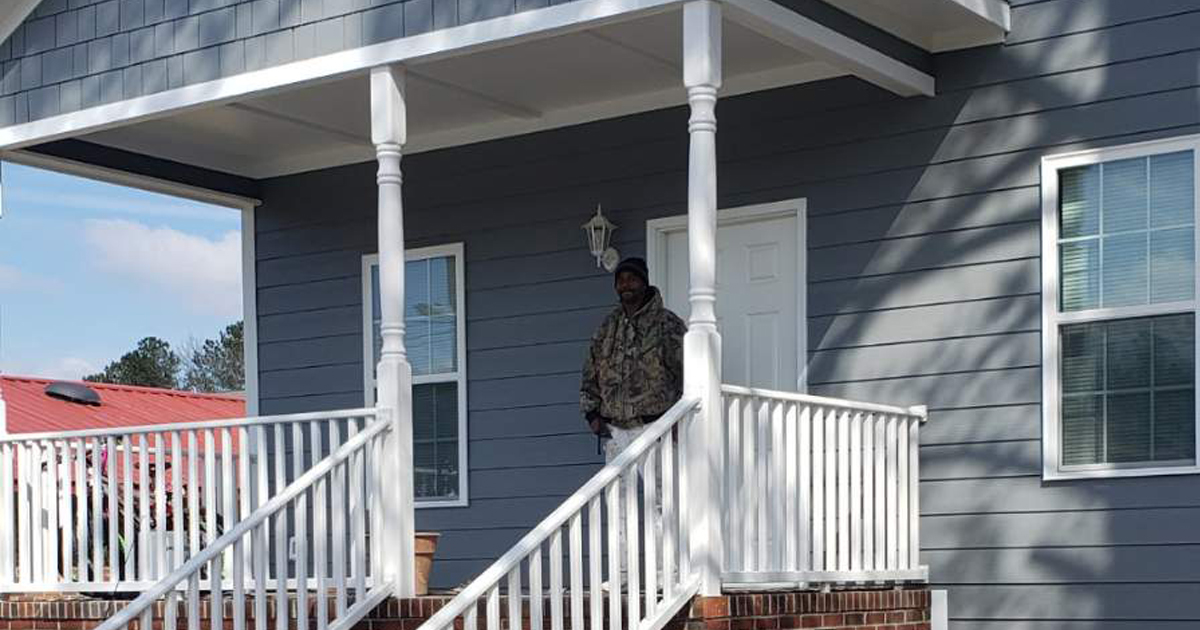 Gregory Bradley on his front porch