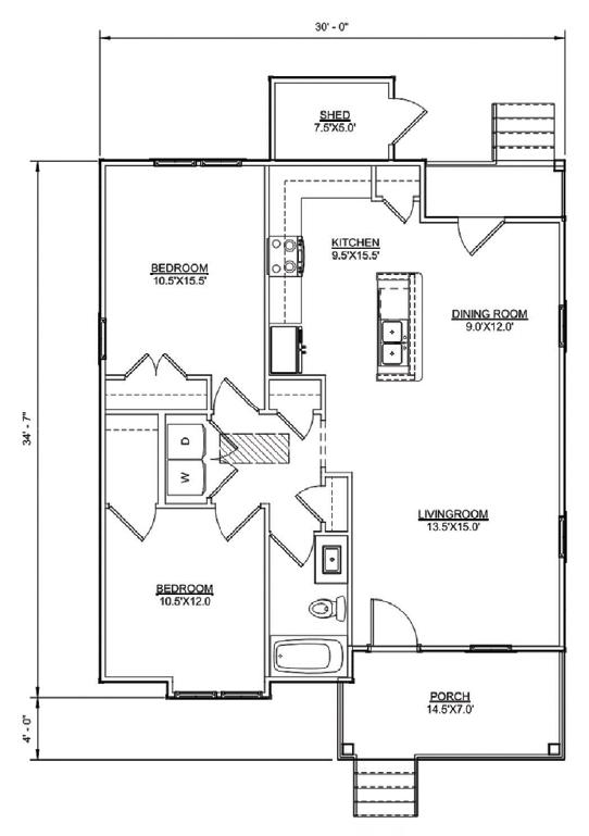 Floor plan of Carson model