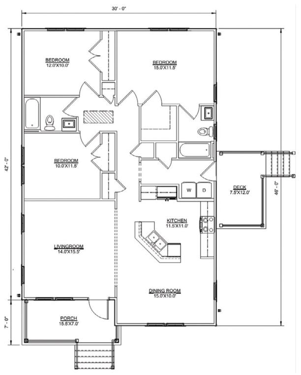 Floor plan of Bennett model