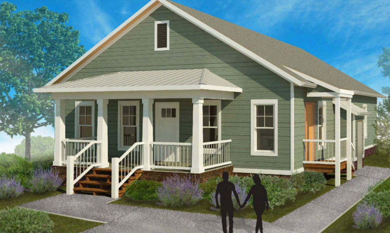 Exterior drawing of Bennett house