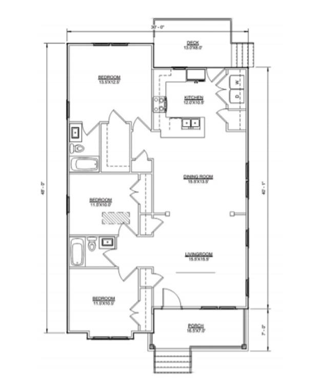 Floor plan of Cameron II model