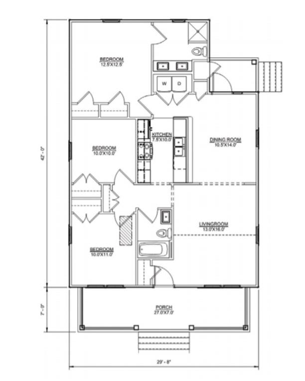 Floor plan of Clark I model