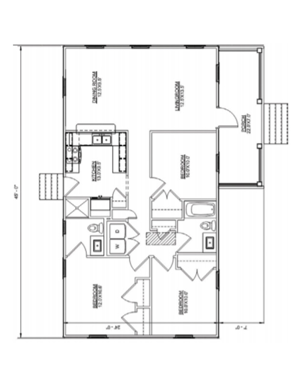 Floor plan of Hadley Ranch model