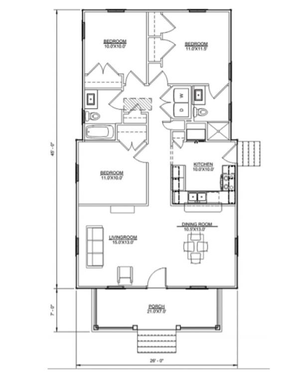 Floor plan of Hawkins I model