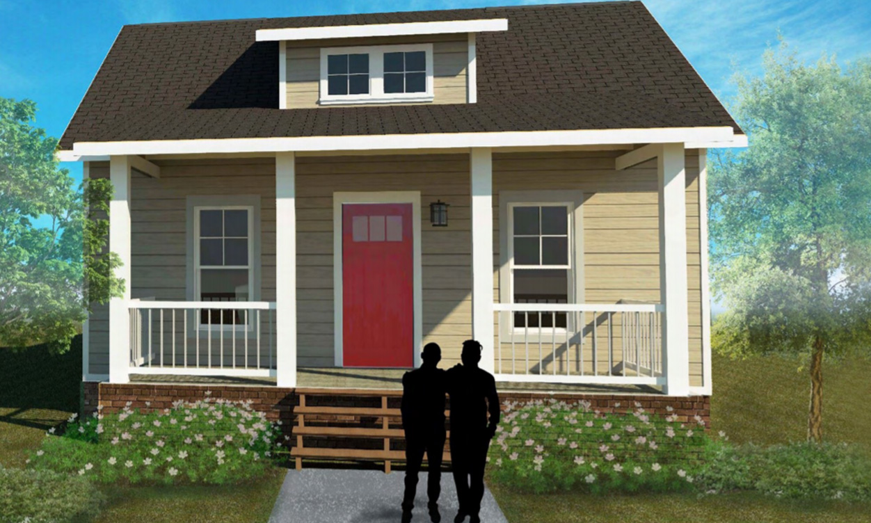 Exterior drawing of Hawkins I house