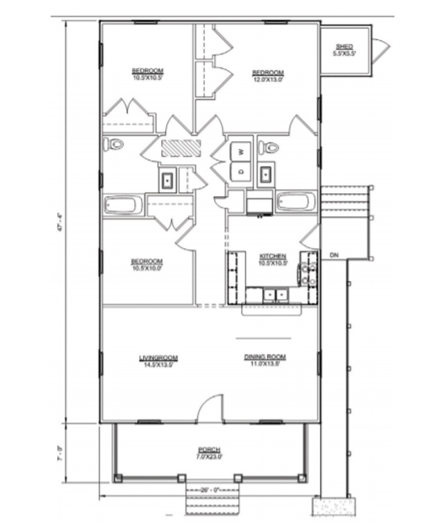 Floor plan of Haywood II model