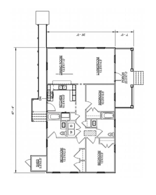 Floor plan of Haywood II Ranch model