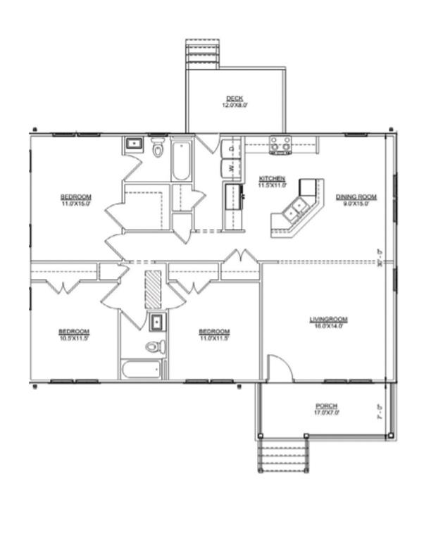 Floor plan of Jackson II Ranch model