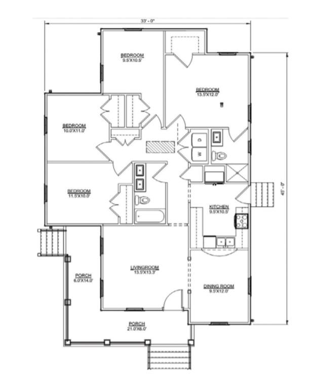 Floor plan of Julia II model