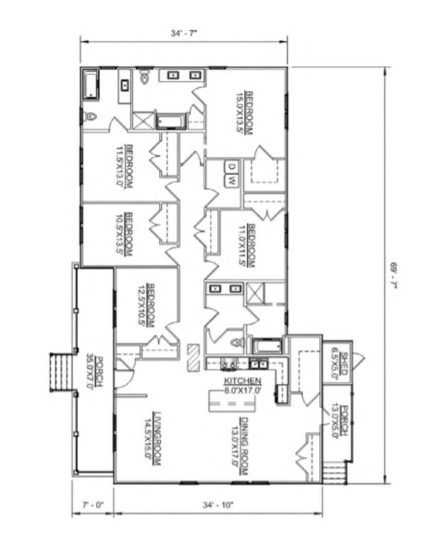 Floor plan of O'Neill model