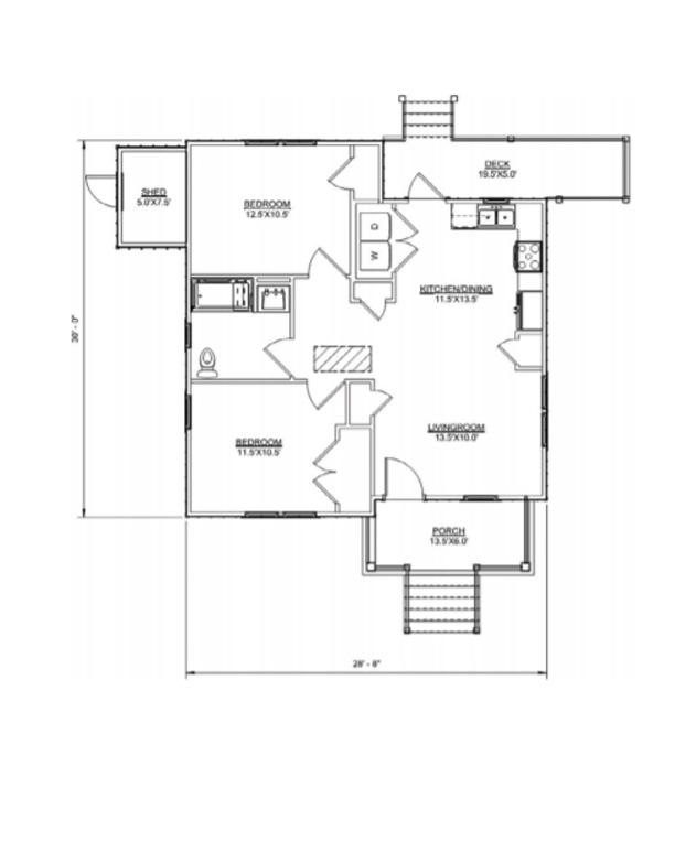 Floor plan of Jackson II model