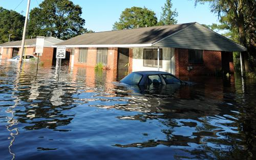Flooded car and home