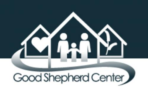 3 triangles with text Good Shepherd Center under