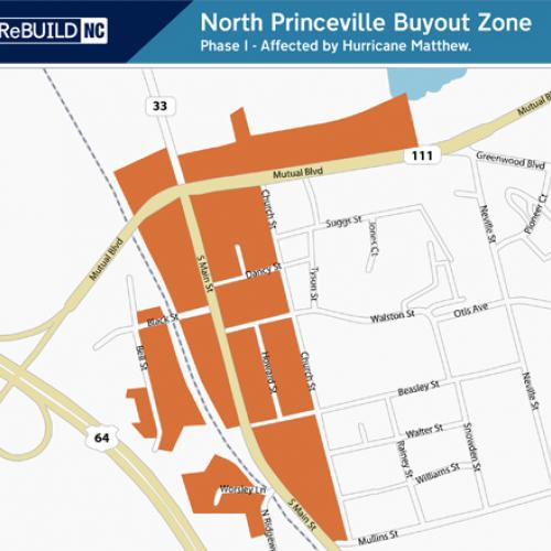 North Princeville: East and West of Main St, and North of Mutual Blvd