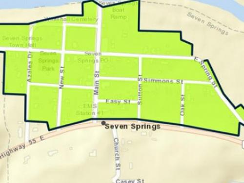 Seven Springs buyout zone map