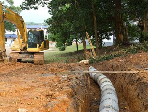 Construction of drainage pipeline