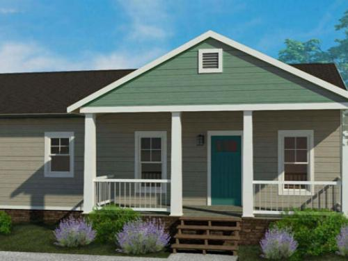 Exterior drawing of Haywood II Ranch model