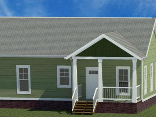 Exterior drawing of Hinsdale Ranch model