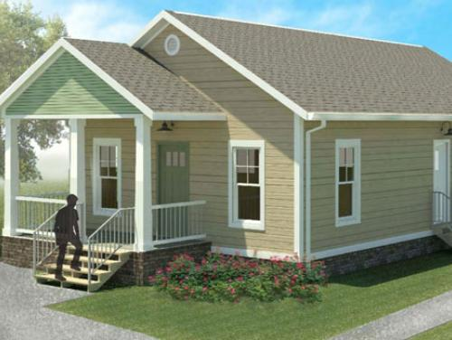 Exterior drawing of Hinsdale model