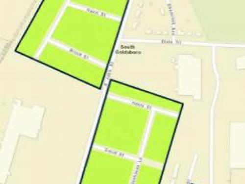 South Goldsboro buyout zone map