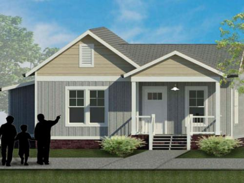 Exterior drawing of Winston model