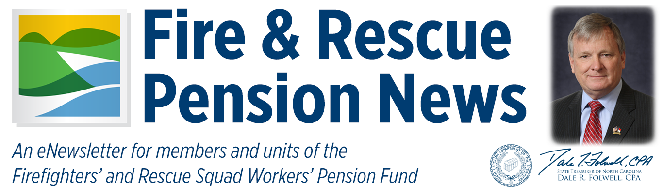 Fire and Rescue Pension News Header