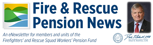 Fire & Rescue Pension News header