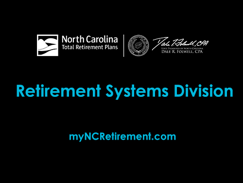 Card with Retirement Systems Division on it