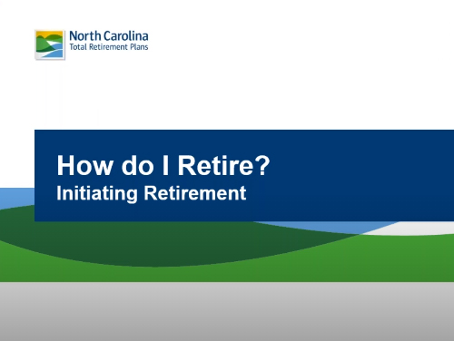 """Graphic with the words """"How do I retire?"""" and """"Initiating Retirement"""" on it"""