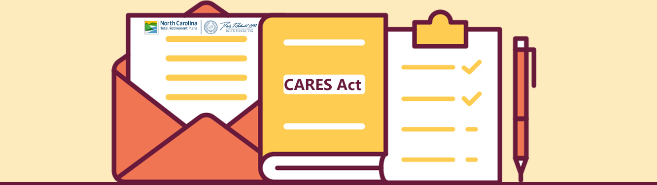"""Graphic with """"CARES Act"""" on it"""