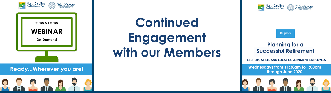 "Graphic with ""Continued Engagement with our Members"""