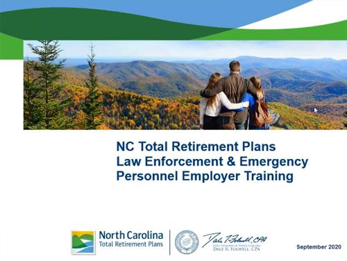 Card with Law Enforcement Employer Training on it