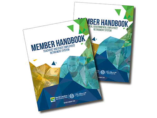 Covers of two of the member handbooks