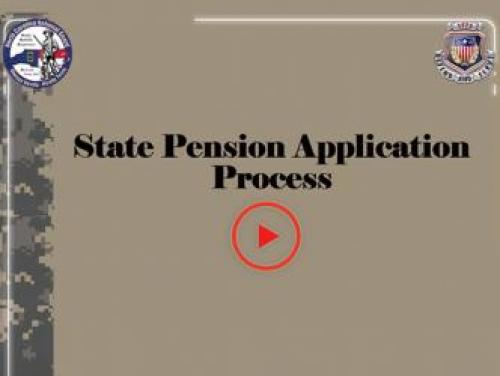 Screenshot of the first screen of the State Pension Application Process for NC National Guard Members