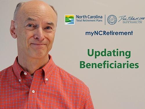 "First screenshot of video with title ""Updating Beneficiaries"" on it"