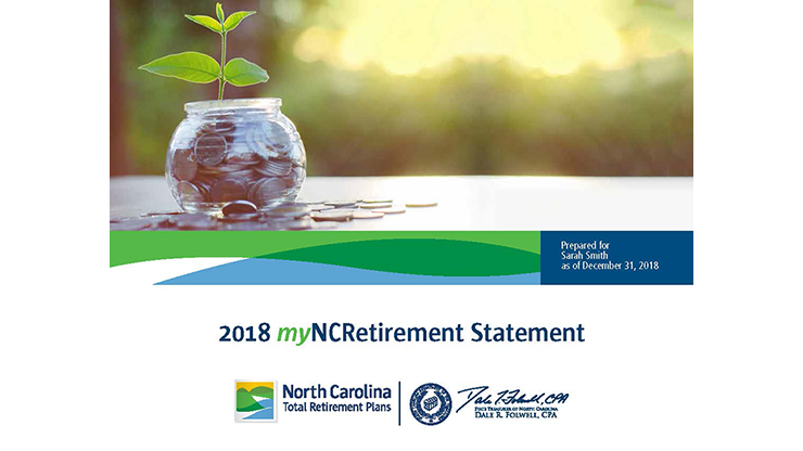Advertisement that the myNCRetirement Statement is now available in ORBIT