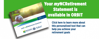 Ad for myNC Retirement Statement