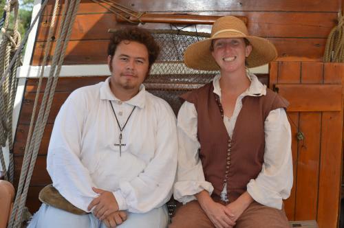 Historic interpreters at Roanoke Island Festival Park on the Elizabeth Ii