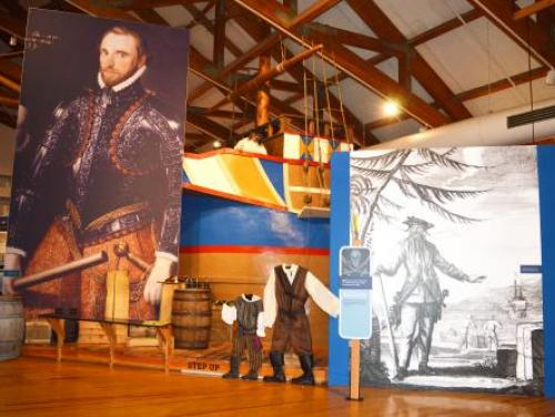 NC Pirate exhibit in the Adventure Museum at Roanoke Island Festival Park