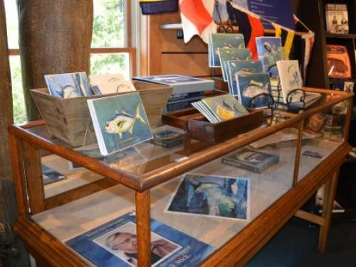 Frank Stick merchandise in the Museum Store at Roanoke Island Festival Park